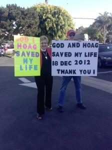 Hoag Rally Rev Cathie with Pat Coburn