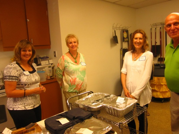 Preparing in the kitchen:  Kim Hensley, Marcia Kear, Sharon Hutchison, Peter Kiriakos